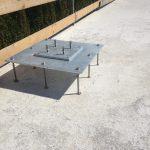 Spezial Mastfuss zum Einbau in Aussenisolation Dach